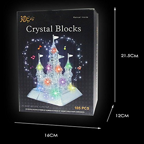 3d crystal puzzle carousel instructions