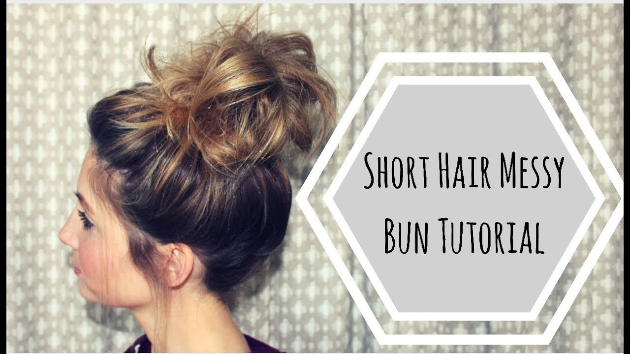 instructions on how to make a messy bun