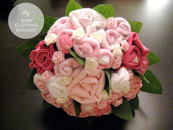 baby clothing bouquet instructions