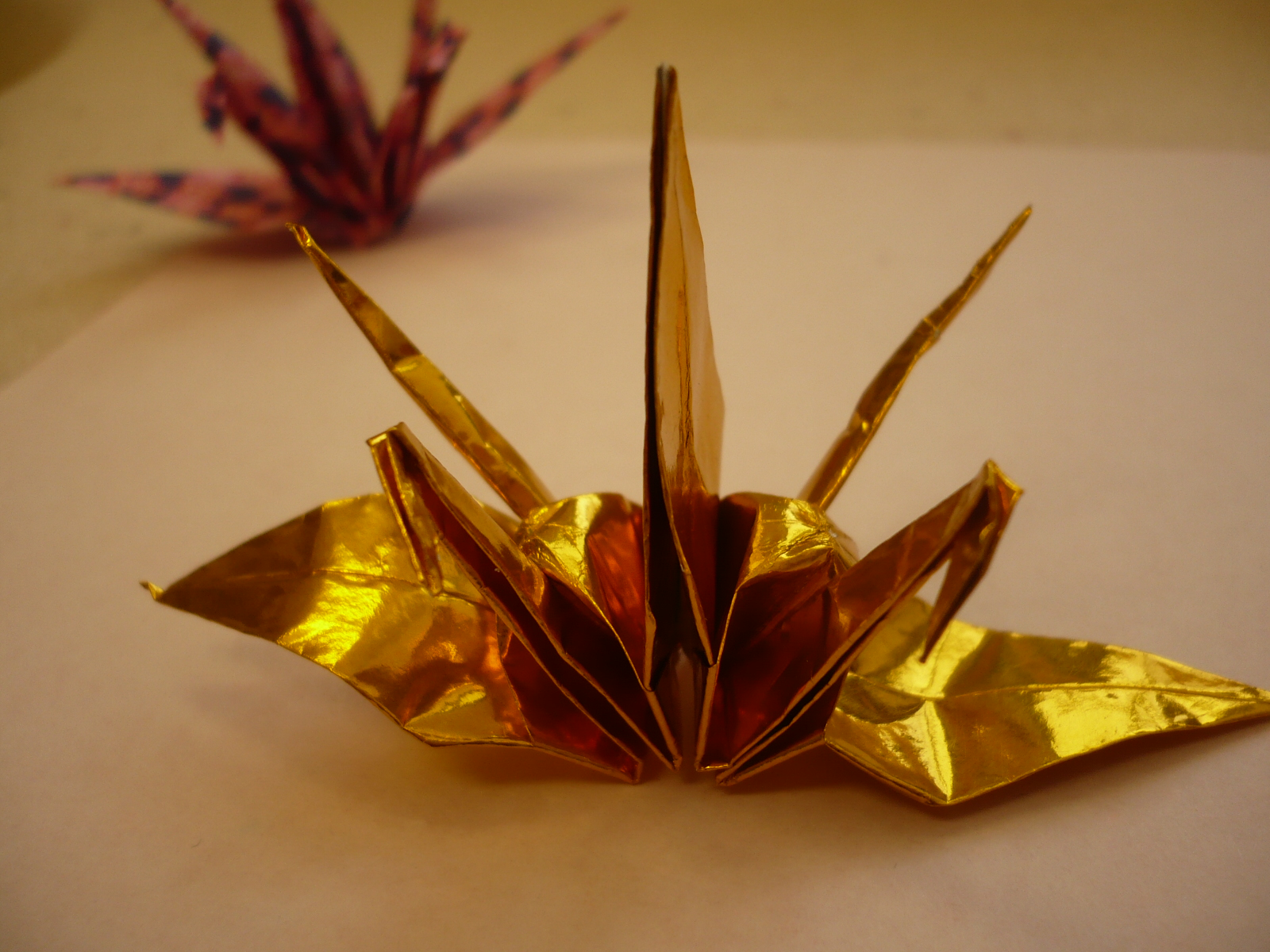 origami twin crane instructions