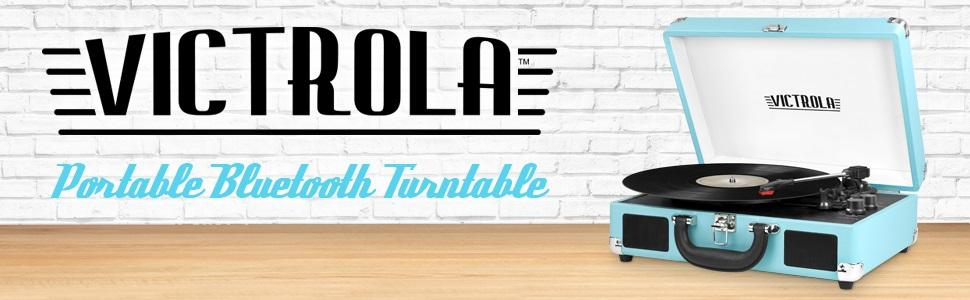 victrola portable bluetooth turntable instructions